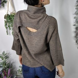 CREA CONCEPT Two tone wool open back sweater 0207